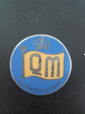 Ww2 Ministry Of Food Queens Messengers Convoy Badge Silver