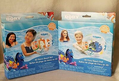 Disney Finding Dory 3D Nemo & Dory Inflatable Beach Ball 2 Pack 12.5 Inches