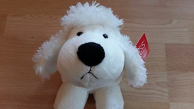 Russ Berrie Cuddly White Dog New With Tags 8""