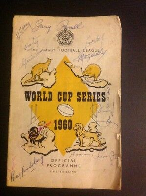 Rugby League Programme - World Cup Series 1960
