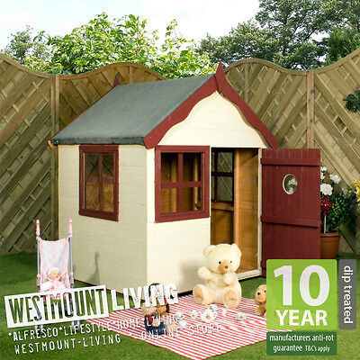 New Childrens Childs Wooden Garden Flower Playhouse Wendy House Snug Den