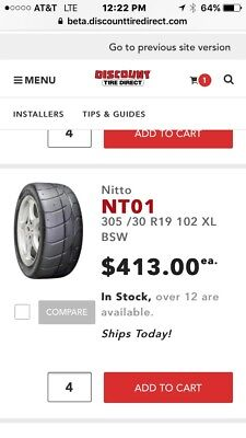 305/30/R 19 NT01  tires