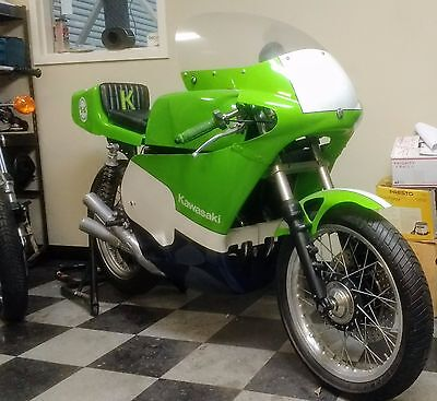 1975 Kawasaki S3  KAWASAKI VINTAGE 2 STROKE CAFE BIKE S3 400 R ROAD RACE DRAG H2 / H1 PERF UPGRADE