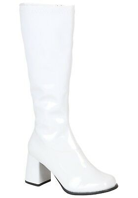 WOMENS WHITE COSTUME BOOTS SIZE ADULT 6 ( with defects)