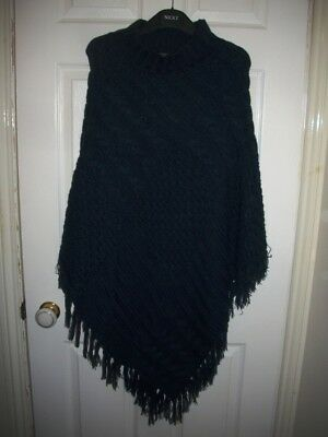 South woollen poncho navy