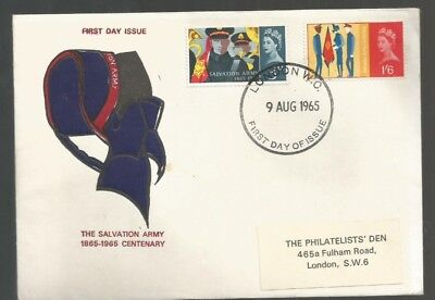 Gb Fdc Salvation Army 1965