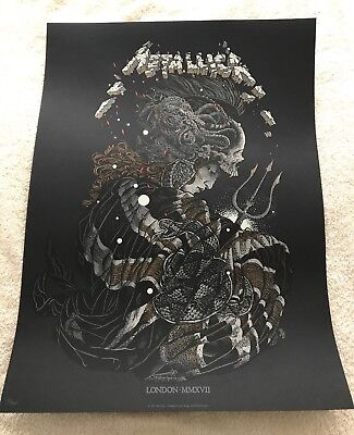 Metallica LONDON O2 Worldwired Tour POP UP STORE Event Poster Print #152/400
