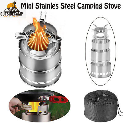 Collapsible Backpacking Wood Stove Burner Multi Fuel Stove Outdoor Camping Stove
