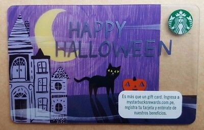 LIMITED FROM Peru STARBUCKS CARD HALLOWEEN CAT special edition gift card RARE