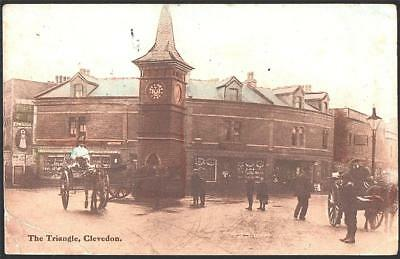 The Triangle. Clevedon.used1919 Printed   Postcard