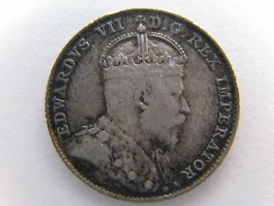 1907 Canada 10 Cents - Edward VII - Canadian SILVER!