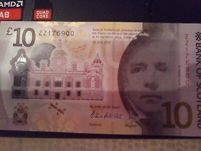 Bank Of Scotland ZZ Unique Numbered note ending 900 UNC NEW Polymer
