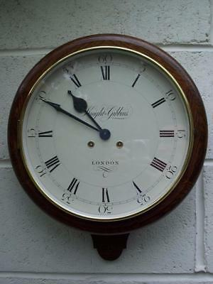 Handsome Vintage Oak Knight & Gibbins Of London Chiming 8 Day Wall Clock