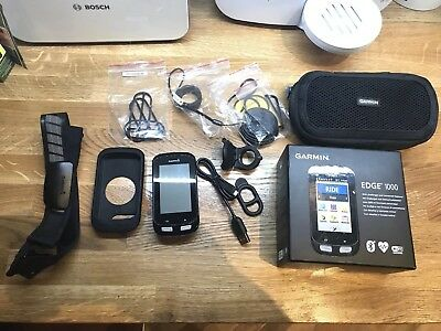 Garmin Edge 1000 Boxed with accessories heart rate strap, Case perfect condition