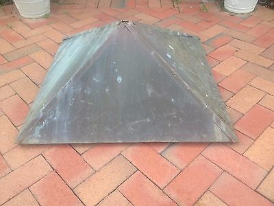 "Vintage Antique Copper Weathervane Roof Cupola  31"" x 31"" - 14"" Tall Nice Aged"