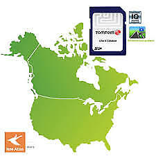 TomTom SD Card - Maps of Full USA Canada Florida Universal Studios Disney World