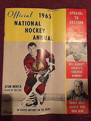 1965 Vintage Official National Hockey Annual Nhl Stan Mikita Cover