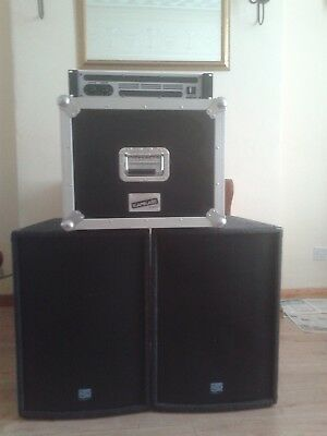 mobile cd player disco equipment includes speakers and amplifier