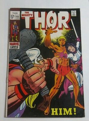 THE MIGHTY THOR No #165 Jack Kirby artwork