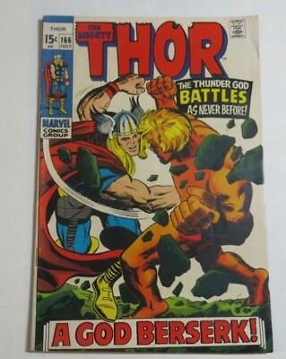 THE MIGHTY THOR No #166 Jack Kirby artwork