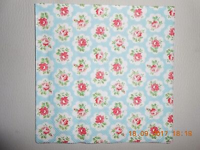 One Cath Kidston Provence Rose Blue Luxury Design Decoupage Paper Napkin