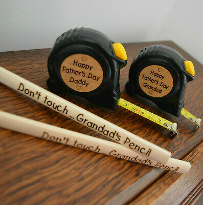Fathers day gift for Dad Personalised Grandad Tape Measure hammer Father's Day