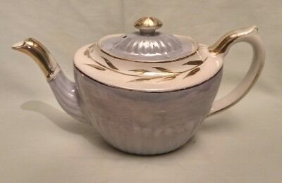 Vintage Gibsons Pale Blue Lustre & Gilt Tea Pot