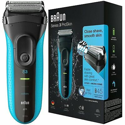 NEW GUARANTEED Braun Series 3 3010s Mens Rechargeable Electric Shaver Wet & Dry!