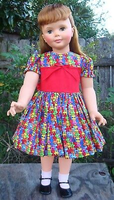 "Dress and slip puffy for Patti Playpal doll or 35"" - 36"" doll"