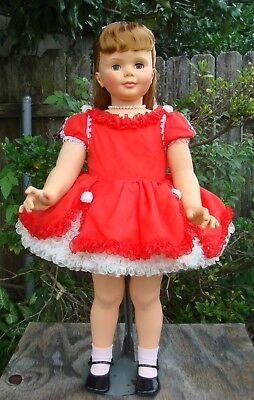 "Beautiful Dress, Bloomer and Necklace for your Patti Playpal or 35"" - 36"" doll"