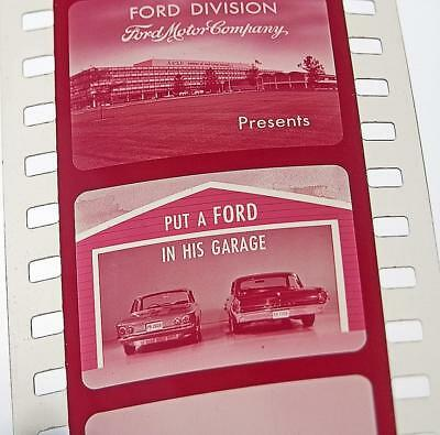 """1964 FORD MUSTANG """"Ford in His Garage"""" original FILM STRIP pictures & specs!"""