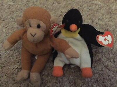 Teenie Weenie Ty 1993 Bongo And Waddle McDonald's Toys