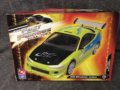 the FAST and THE FURIOUS 1995 MITSUBISHI ECLIPSE AMT ERTL   1:25