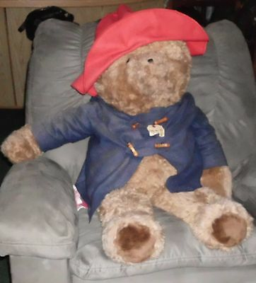 "HUGE Vintage Paddington Bear Plush 48"" tall"