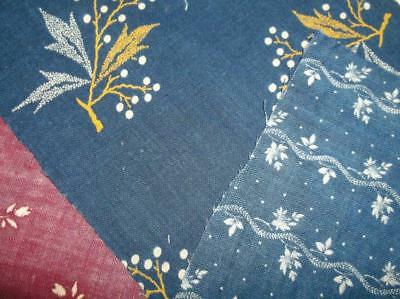 ~Back In Time Textiles~ Nice mix of 1870-1890 fabric scraps Antique textiles~