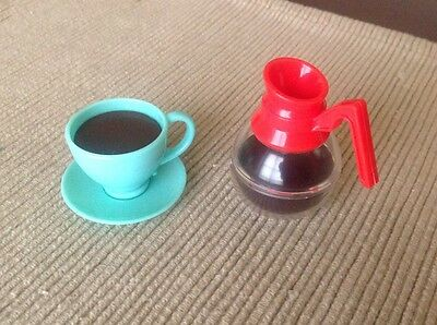 """18"""" doll food coffee pot cup saucer diner fit American Girl Our Generation toy"""