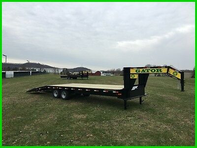 2017 Gatormade Gooseneck Trailer, Flat Bed Trailer, Extra Wide Loading Ramps