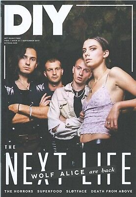 DIY Magazine September 2017 Wolf Alice front cover plus 8 page feature