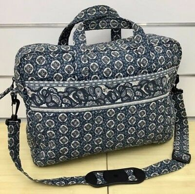 Vera Bradley Vintage Executive Bag in Indigo