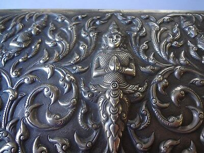 Antique Sterling Silver Siam Humidor, Marked Sterling!