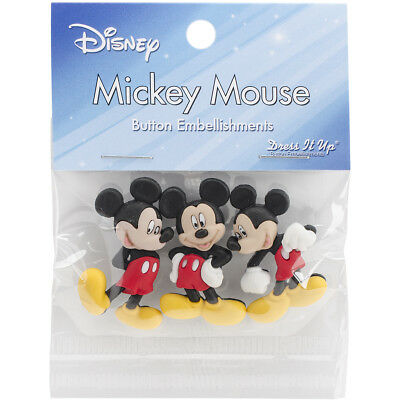 Dress It Up Licensed Embellishments Disney Mickey Mouse DIULBTN-7716
