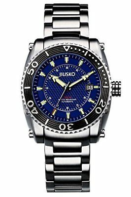 JIUSKO Men's Automatic Self Wind 200m Stainless Steel Diving Watch - 39LSB08