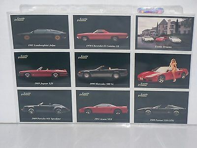 Complete Set Of Exotic Dreams Sports Car Trading Card Set #1-100 1992 All Sports