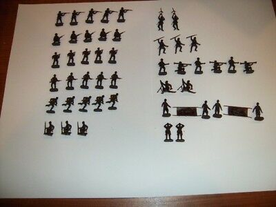 ESCI 1/72 Scale WWII French Soldiers Figures [205] Complete Set Unpainted