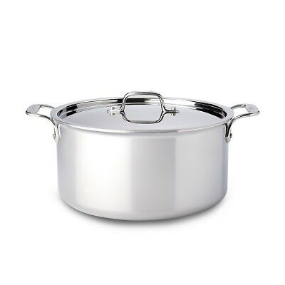 All-Clad Stainless Steel 8 Qt. Covered Stockpot, New