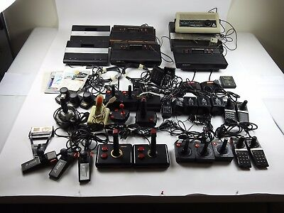 Atari Lot 7800 2600 5200 23 Controllers 7 Systems Pinball Manuals Games As Is