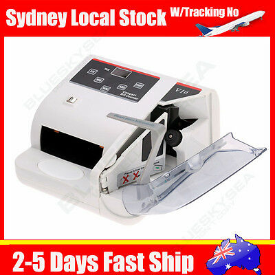 Portable Bank Note Multi-currency Bill Counter Machine Fast Counting 100-240V