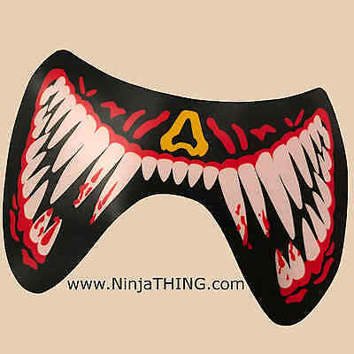 Sound Activated EL Mask, Ninja THING Mask, Light Up Mask, Red Fangs SEE VIDEO