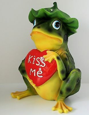 Frog Figurine Prince Chariming  Kiss Me Frog  NEW IN BOX