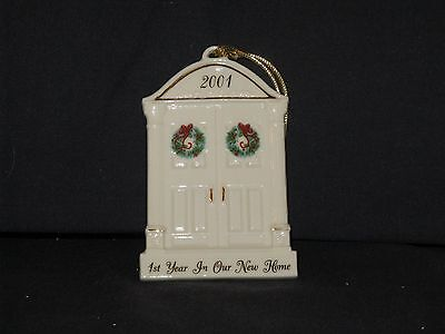 """Lenox Ornament: 2001 """"1st YEAR IN OUR NEW HOME"""""""